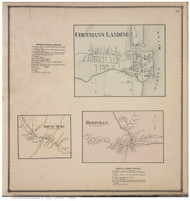 Coeymans Landing, South Bern, and Bernville Villages, Albany Co., New York 1866 - Old Town Map Reprint - Albany & Schenectady Cos. Atlas