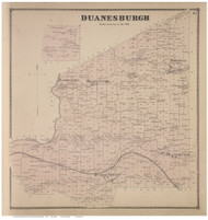 Duanesburgh, Schenectady Co., New York 1866 - Old Town Map Reprint - Albany & Schenectady Cos. Atlas