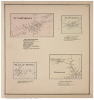 Duanesburgh, Quaker Street, Bramans Corners, and Mariaville Villages, Schenectady Co., New York 1866 - Old Town Map Reprint - Albany & Schenectady Cos. Atlas