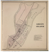 Green Island, Albany Co., New York 1866 - Old Town Map Reprint - Albany & Schenectady Cos. Atlas