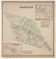 Guilderland Town, Guilderland Centre and Hamiltonville Villages, Albany Co., New York 1866 - Old Town Map Reprint - Albany & Schenectady Cos. Atlas