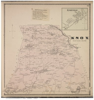 Knox Town and Knoxville Village, Albany Co., New York 1866 - Old Town Map Reprint - Albany & Schenectady Cos. Atlas