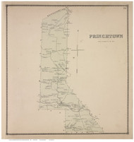 Princetown, Schenectady Co., New York 1866 - Old Town Map Reprint - Albany & Schenectady Cos. Atlas