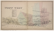 West Troy, Albany Co., New York 1866 - Old Town Map Reprint - Albany & Schenectady Cos. Atlas