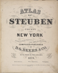 Title, New York 1873 - Old Town Map Reprint - Steuben Co. Atlas