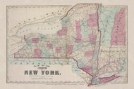 New York State, New York 1873 - Old Town Map Reprint - Steuben Co. Atlas