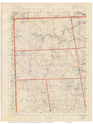 Sheet 2 - Burrillville and Glocester, Rhode Island 1891 USGS Old Topo Map 15x15 Quad - 1891 Atlas