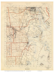 Sheet 4 - Cranston and Warwick, Rhode Island 1891 USGS Old Topo Map 15x15 Quad - 1891 Atlas