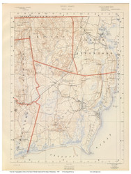 Sheet 8 - South Kingstown, Rhode Island 1891 USGS Old Topo Map 15x15 Quad - 1891 Atlas