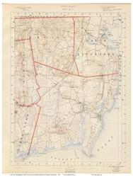 Sheet 8 - South Kingstown, Rhode Island 1891 USGS Old Topo Map 15x15 Quad - 1891 Atlas