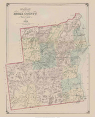 Essex County, New York 1876 - Old Town Map Reprint - Essex Co. Atlas