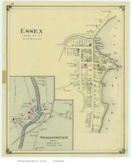 Essex Villages, New York 1876 - Old Town Map Reprint - Essex Co. Atlas