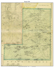 Keene, New York 1876 - Old Town Map Reprint - Essex Co. Atlas
