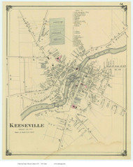 Keeseville, New York 1876 - Old Town Map Reprint - Essex Co. Atlas