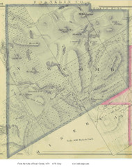 Newcomb, New York 1876 - Old Town Map Reprint - Essex Co. Atlas