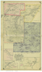 St Armand, Wilmington, North Elba & Keene, New York 1876 - Old Town Map Reprint - Essex Co. Atlas