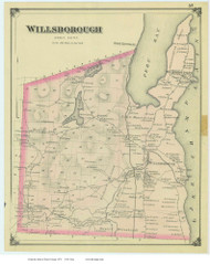 Willsborough, New York 1876 - Old Town Map Reprint - Essex Co. Atlas
