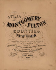 Title, New York 1868 - Old Town Map Reprint - Montgomery & Fulton Cos. Atlas
