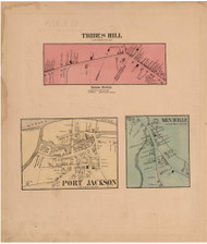 Tribes Hill, Port Jackson & Minaville, Montgomery Co. New York 1868 - Old Town Map Reprint - Montgomery & Fulton Cos. Atlas