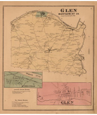 Glen, Montgomery Co. New York 1868 - Old Town Map Reprint - Montgomery & Fulton Cos. Atlas