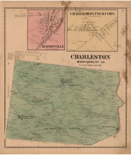 Charleston, Montgomery Co. New York 1868 - Old Town Map Reprint - Montgomery & Fulton Cos. Atlas