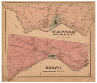 St Johnsville & Mohawk, Montgomery Co. New York 1868 - Old Town Map Reprint - Montgomery & Fulton Cos. Atlas