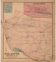 Palatine, Montgomery Co. New York 1868 - Old Town Map Reprint - Montgomery & Fulton Cos. Atlas