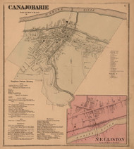 Canajoharie Village, Montgomery Co. New York 1868 - Old Town Map Reprint - Montgomery & Fulton Cos. Atlas