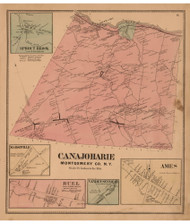 Canajoharie, Montgomery Co. New York 1868 - Old Town Map Reprint - Montgomery & Fulton Cos. Atlas