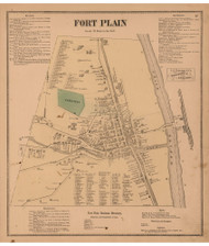 Fort Plain, Montgomery Co. New York 1868 - Old Town Map Reprint - Montgomery & Fulton Cos. Atlas