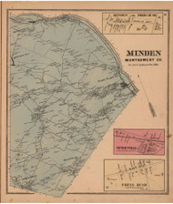 Minden, Montgomery Co. New York 1868 - Old Town Map Reprint - Montgomery & Fulton Cos. Atlas
