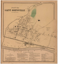 Saint Johnsville, Montgomery Co. New York 1868 - Old Town Map Reprint - Montgomery & Fulton Cos. Atlas