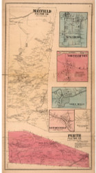 Mayfield, Fulton Co. New York 1868 - Old Town Map Reprint - Montgomery & Fulton Cos. Atlas