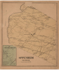 Oppenheim, Fulton Co. New York 1868 - Old Town Map Reprint - Montgomery & Fulton Cos. Atlas