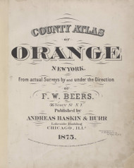 Title Page, New York 1875 - Old Town Map Reprint - Orange Co. Atlas