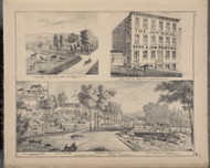 Farm of Joel Snyder, Journal Building, Cornwall Flouring Mill, New York 1875 - Old Town Map Reprint - Orange Co. Atlas