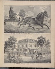 The Horse Guy Miller and Residence of M.S. Hayne, New York 1875 - Old Town Map Reprint - Orange Co. Atlas