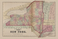 State of New York, New York 1869 - Old Town Map Reprint - Chemung Co. Atlas