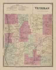 Veteran, New York 1869 - Old Town Map Reprint - Chemung Co. Atlas