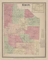 Erin, New York 1869 - Old Town Map Reprint - Chemung Co. Atlas