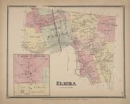 Elmira, New York 1869 - Old Town Map Reprint - Chemung Co. Atlas