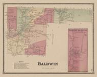 Baldwin, New York 1869 - Old Town Map Reprint - Chemung Co. Atlas