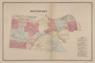 Southport, New York 1869 - Old Town Map Reprint - Chemung Co. Atlas
