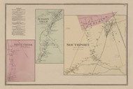 Seely Creek, Judsonville & Southport Vilages, New York 1869 - Old Town Map Reprint - Chemung Co. Atlas