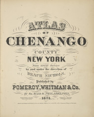 Title Page, New York 1875 - Old Town Map Reprint - Chenango Co. Atlas