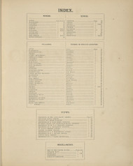 Index, New York 1875 - Old Town Map Reprint - Chenango Co. Atlas
