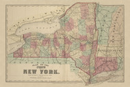 New York State, New York 1875 - Old Town Map Reprint - Chenango Co. Atlas
