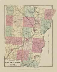 Chenango County, New York 1875 - Old Town Map Reprint - Chenango Co. Atlas