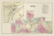 Afton, New York 1875 - Old Town Map Reprint - Chenango Co. Atlas