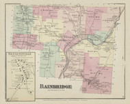 Bainbridge, New York 1875 - Old Town Map Reprint - Chenango Co. Atlas